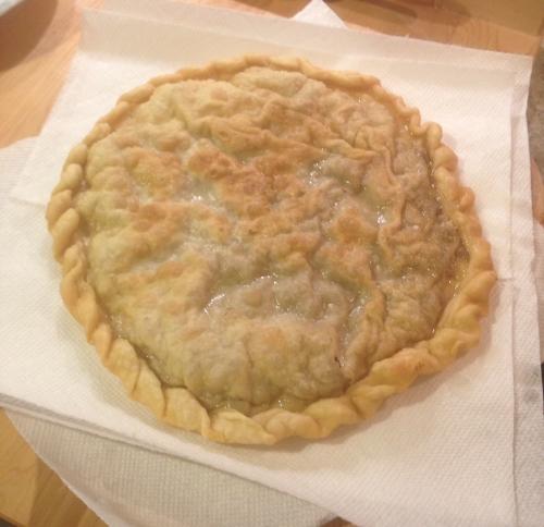 draining pie
