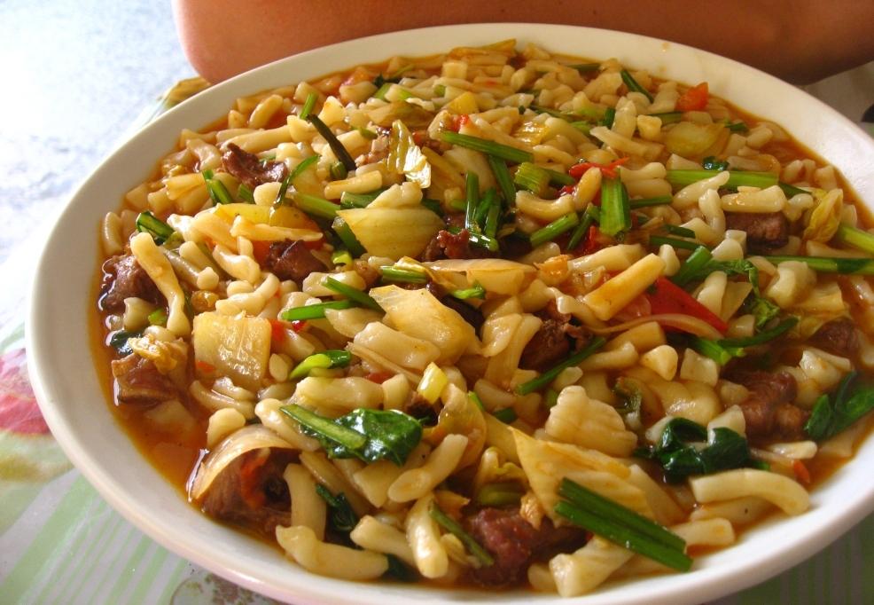 Soman uyghur chopped lagman noodles silk road chef uyghursoman forumfinder Image collections